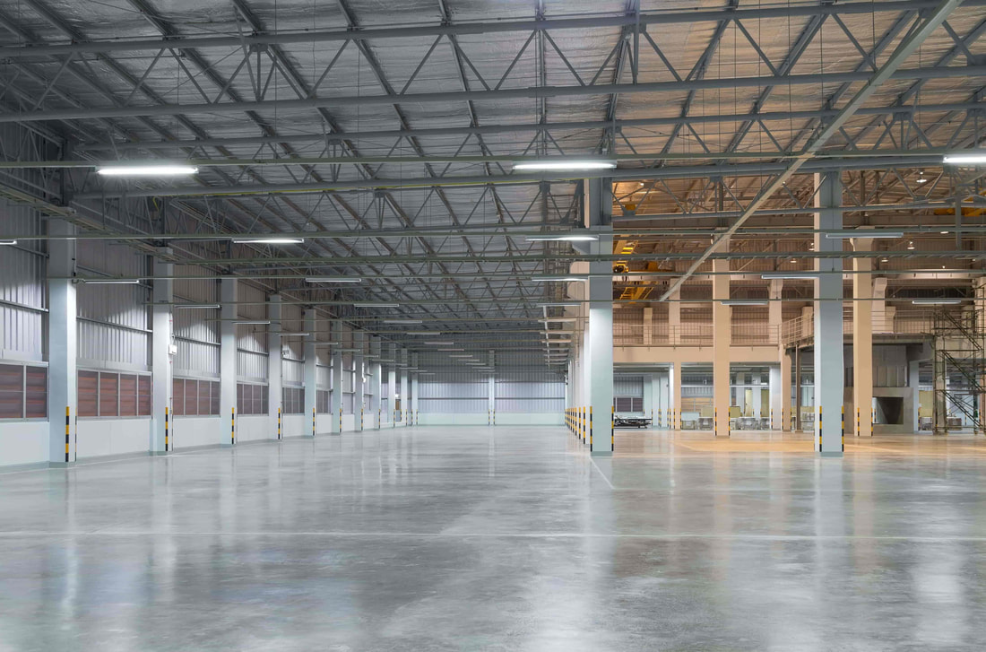 This photo was taken at a commercial site in Surrey. We worked on the warehouses concrete flooring.