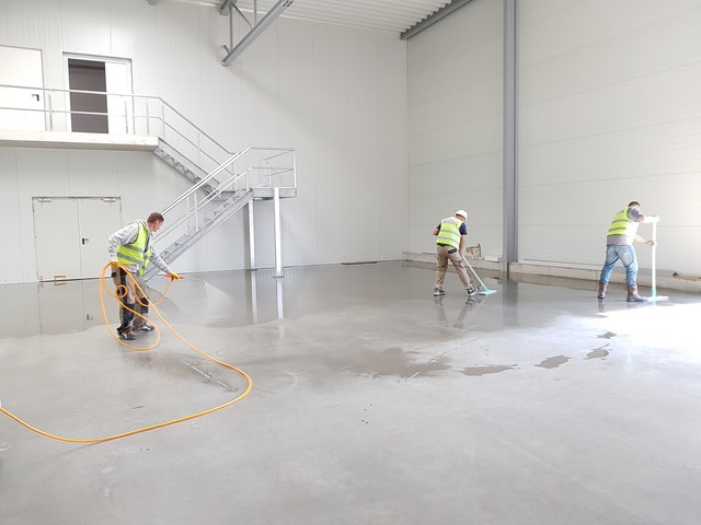 This is an after photo of a commercial job we completed. The job included setting up the concrete flooring for the commercial site in Surrey.